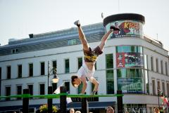 Pokaz na festiwalu artystów ulicznych